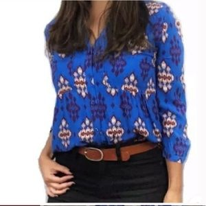 Anthropologie Maeve Woodland Walk Buttonup Blouse